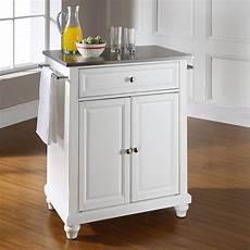 crosley furniture kitchen island crosley furniture cambridge stainless steel top portable