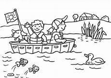 Schule Und Familie Ausmalbilder Winter Kostenlose Malvorlage Sommer Bootsfahrt Zum Ausmalen