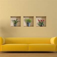 home decor stickers vase plant 3d lattice wall decals pag removable