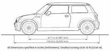 Mini Cooper Dimensions  Small Cars Car