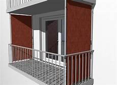 balkon sichtschutz design uni orange dralon
