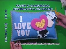 cojin o almohada decorativa en foamy o gomaeva con moldes youtube
