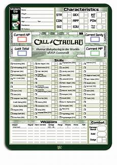 top 6 call of cthulhu character sheets free to download in pdf format