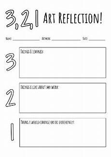3 2 1 art reflection by the daily teacher edition tpt