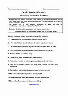 parallel sentence structure worksheets with answers englishlinx com parallel structure worksheets