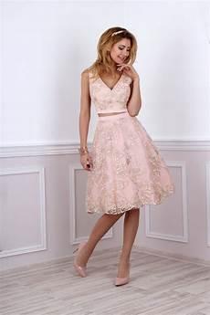Kleid F 252 R Standesamtliche Trauung In Rosa Gold