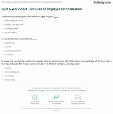 compensation estimation worksheets 8186 quiz worksheet features of employee compensation study