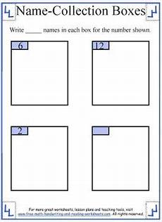 handwriting boxes worksheets 21314 1st grade math name collection boxes