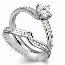 diamond shoulder ring with matching band