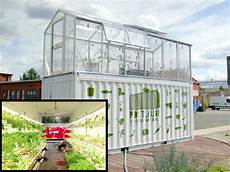 Shipping Container In Garden
