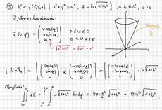 oberfl 228 che eines kegels per integral mathelounge