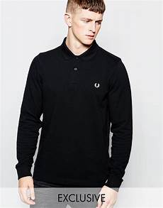 lyst fred perry sleeve polo shirt in slim fit