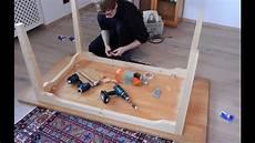 massivholz tisch bauen schlitz und zapfen tisch