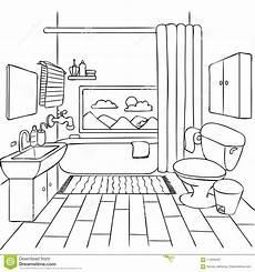 disegno bagno bagno disegnato a mano per l elemento di progettazione e