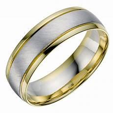 18ct white yellow gold men s wedding ring ernest jones