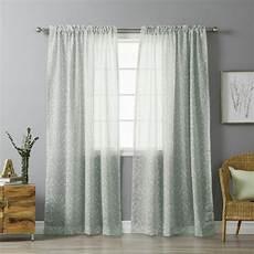 home fashion gardinen best home fashion 84 in l grey sheer ikat printed curtain