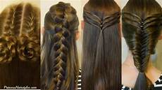 4 easy hairstyles for school cute and heatless part 3 youtube