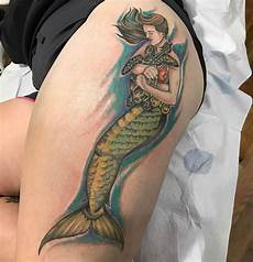 64 cool mermaid tattoo idea that can make you look stunning
