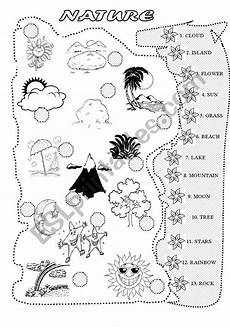 nature worksheet for kindergarten 15159 nature matching exercise esl worksheet by alina88