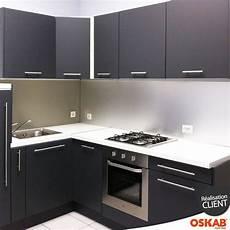cuisine grise porte effet soft touch ginko gris mat plan