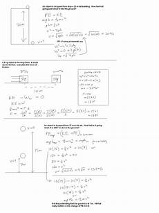 physical science worksheet conservation of energy 2 answers key 13023 mr murray s physics homework