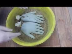 beton hände selber machen diy deko aus beton oder gips mit latexhandschuh
