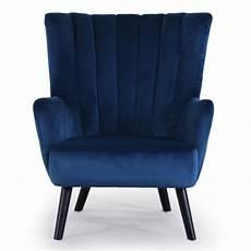 fauteuil velours bleu fauteuil scandinave velours quot velvet quot 94cm bleu