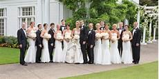 black white wedding party
