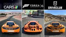 forza 6 vs driveclub vs project cars graphics