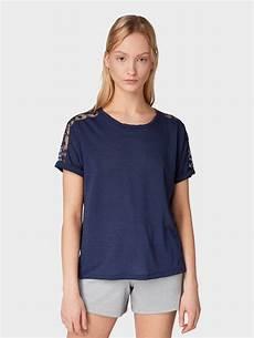 tom tailor denim t shirt 187 t shirt mit spitzendetails