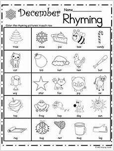 rhyming worksheets 18447 free kindergarten rhyming worksheets for december rhyming worksheet rhyming activities