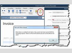 cannot email invoices from quickbooks