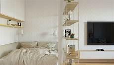 Deko Ideen Bett Im Wohnzimmer Integrieren 3