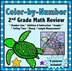 2nd grade math review 2nd grade end of the year activities color by number