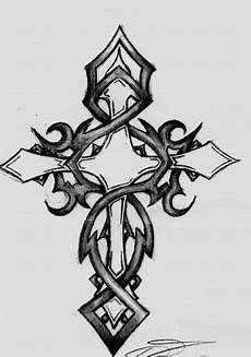sketches of crosses tribal cross by edwards08 on