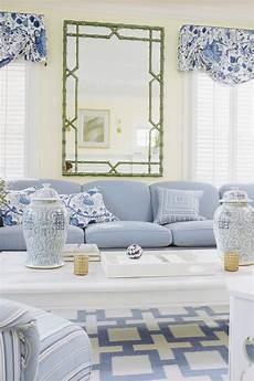 Blue White Living Rooms