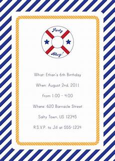 40th birthday ideas nautical birthday invitation templates