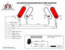 flatbed wiring diagram aluminum headache rack installation