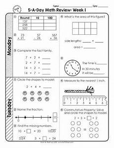 3rd grade daily math spiral review 2 weeks free by