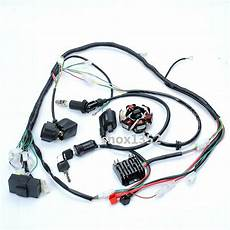 go kart gy6 wiring harness complete electrics gy6 atv go kart 125cc 150cc wire wiring harness ebay