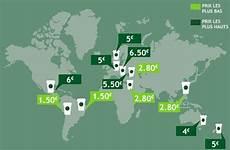 Prix Des Pavés Le Prix D Un Starbucks Latte Dans Le Monde Le Globe Trotteur