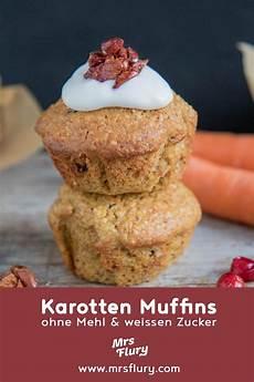 Gesunde Karotten Muffins Ohne Mehl Und Ohne Weissen Zucker