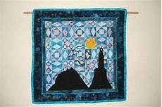 lighthouse in storm at sea quilt wall hanging storm at