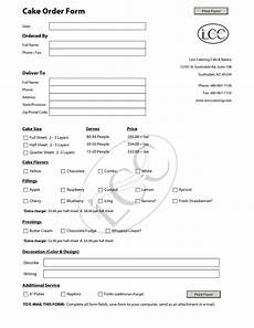 cake forms cake order forms on pinterest contact form templates