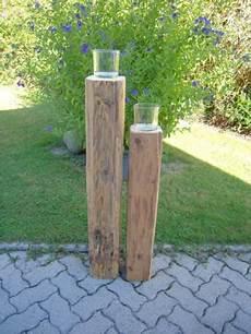 Holzbalken Deko Garten - alte holzbalken als kerzenst 228 nder deko handarbeit balken