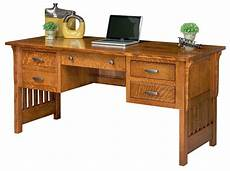 solid wood home office furniture amish computer desk mission arts crafts solid wood