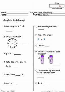 year 9 algebra worksheets uk 8613 mental arithmetic questions that the children must answer without the use of a calculator age 8