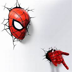 marvel 3d fx deco light ultimate spider man led wall