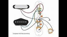 53 quot blackguard quot tele wiring scheme youtube