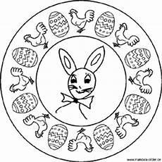 Osterhase Ausmalbilder Mandala Mandalas Zu Ostern Mit Dem Osterhasen Und Ostereiern